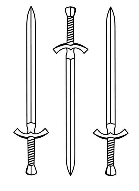 Imágenes de espadas para pintar | Colorear imágenes