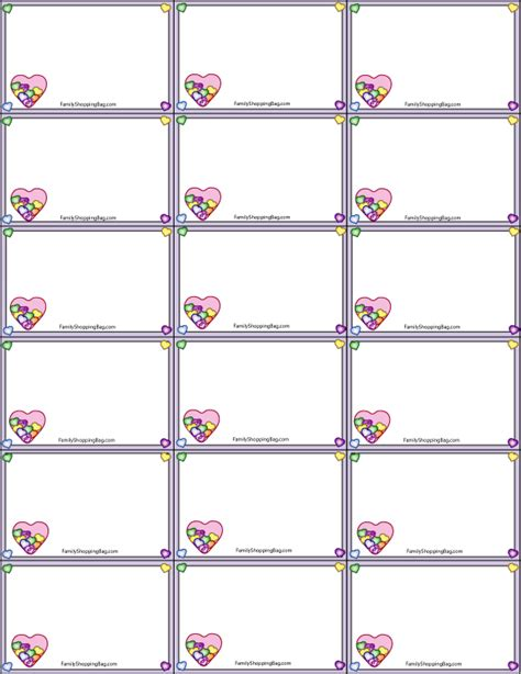 printable gift tags for valentines 8 best images of printable blank gift tags valentine s