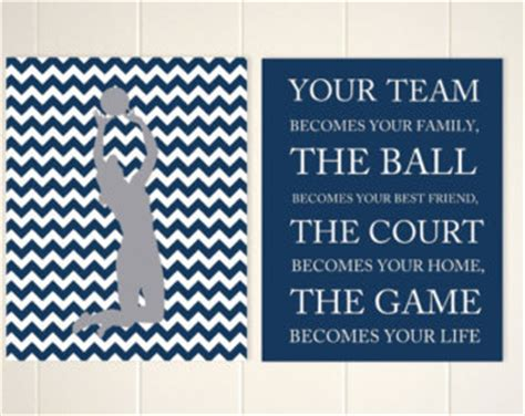 Sticker Quotes For The Wall volleyball quote art etsy