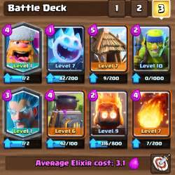 The lumberjack slam clash royale a9 deck up to 3000 trophies