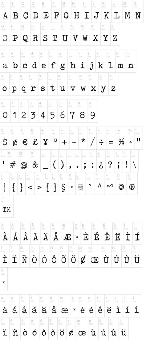 dafont license tox typewriter schriftart dafont com