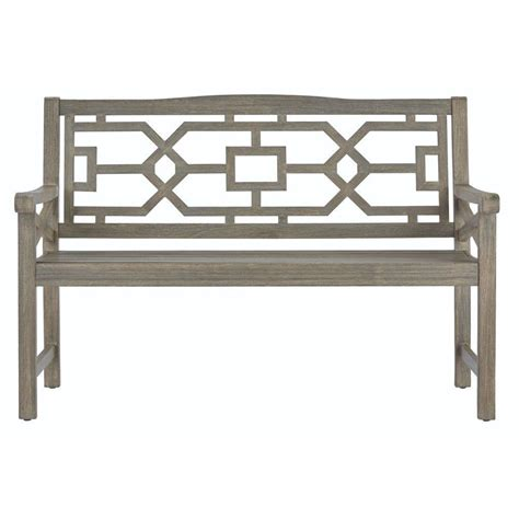 all weather benches martha stewart living blue hill all weather distressed