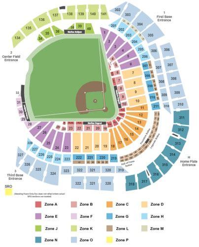 seating chart miami marlins marlins ballpark tickets and marlins ballpark seating