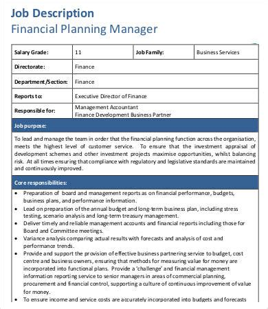 Finance Manager Resume Sle by Financial Planning Report Sle 28 Images Sle Financial
