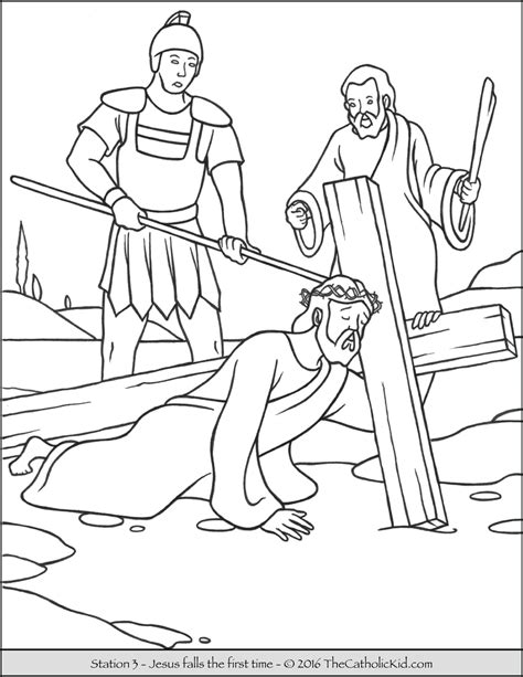printable coloring pages for stations of the cross stations of the cross coloring pages the catholic kid