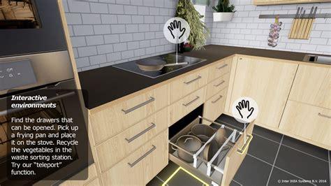 virtual kitchen designer ikea ikea embraces virtual reality with virtual kitchen for htc