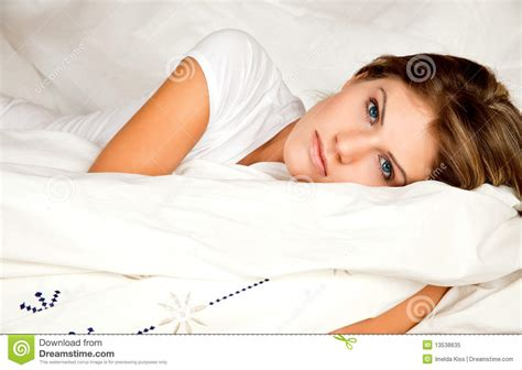 beauty couch beauty woman couch in the bed royalty free stock photo