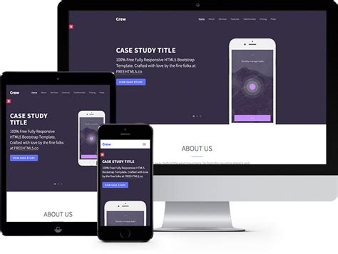 html 5 templates crew free html5 bootstrap template free responsive