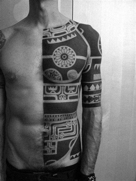 75 Blackwork Tattoo Designs For Men Bold Masculine Ink Bold Tribal Forearm