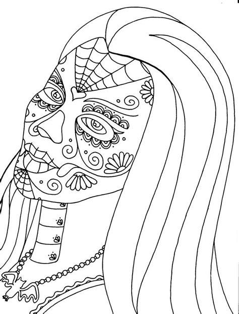 coloring page dia de los muertos dia de los muertos coloring pages coloring home