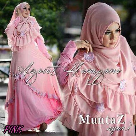 Gamis Syari Louisa muntaz pink baju muslim gamis modern