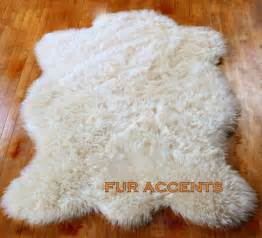 fur accent rug fur accents calssic faux fur sheepskin area rug by furaccents