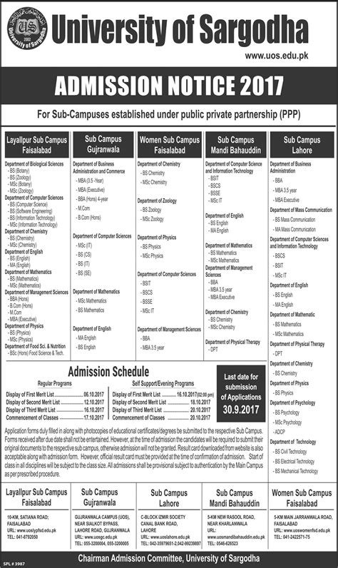 Http Www Wilmu Edu Admission Mba Admission Aspx by Admission Open In Of Sargodha Gujranwala Cus