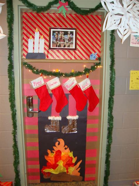 decorate a door for christmas contest door decorating contest winner my roommates and i did this before my ra years all