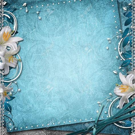 wedding invitation background wedding invitation card blue background design