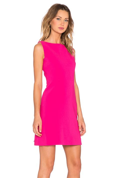 lyst kate spade new york stretch crepe a line dress in pink