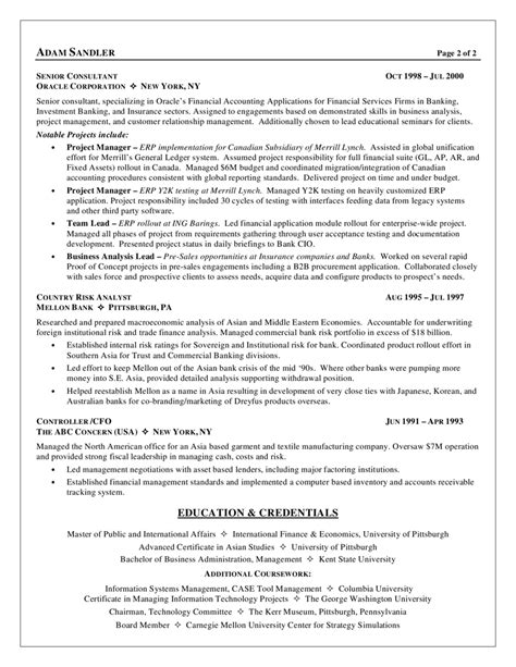 Sle Resume Of Business Process Analyst Business Analyst Resume Sle Business Analyst Resume