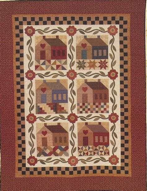 Primitive Patchwork - primitive folk quilt pattern patchwork by