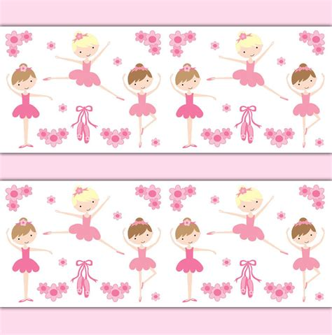 baby girl wallpaper uk ballerina wallpaper border wall art decal baby girl ballet