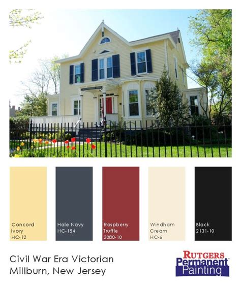 exterior paint color inspiration yellow navy on a home in millburn nj