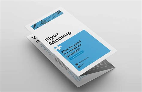 Three Fold Paper - tri fold flyer mockups mockupworld