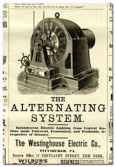 Alternating Current Nikola Tesla Nikola Tesla Images Newspaper Ad For Tesla S Alternating