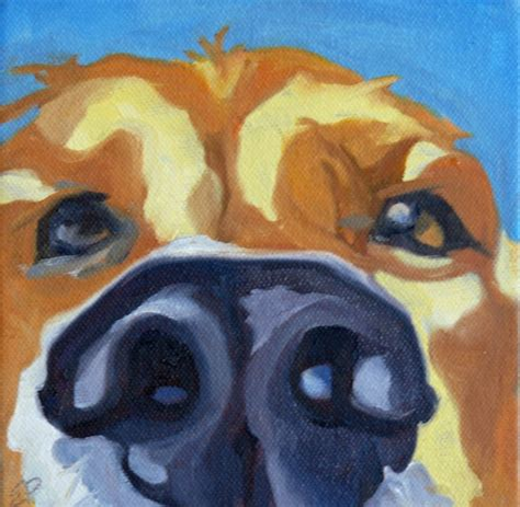 acrylic painting nose a dogs nose original painting 40 00 via etsy