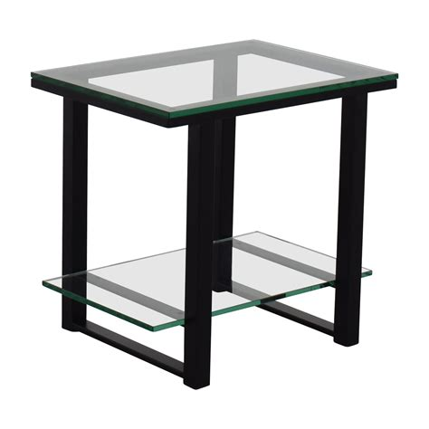 Side Table Shelf by 66 Crate And Barrel Crate Barrelglass And Metal