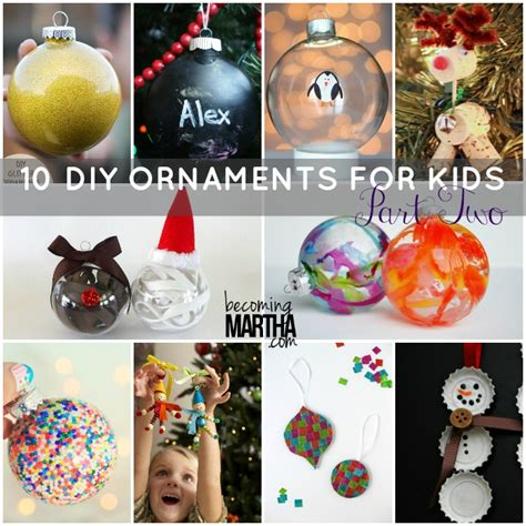 diy childrens ornaments 10 diy ornaments to make at home