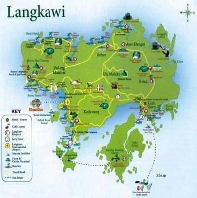 langkawi island travel tips malaysia    map