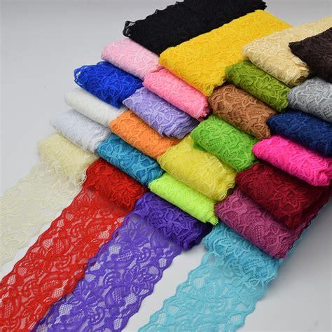 aliexpress buy 9 5yards beautiful lace stretch floral headband elastic diy lace