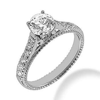 engagement ring setting vintage style