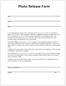 template for photo release form photo release form templates for ms word word document