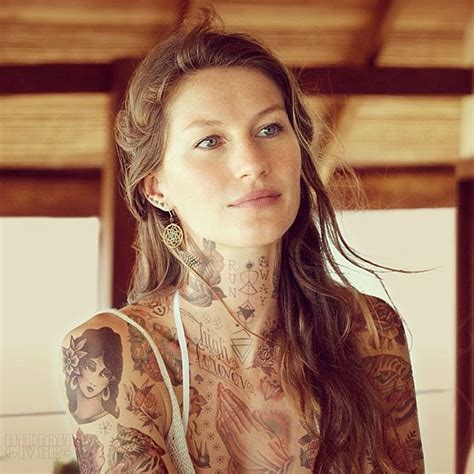 gisele bundchen tattoo covered in tattoos 13 fubiz media