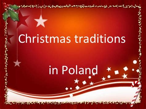 what is christmas called traditions in poland