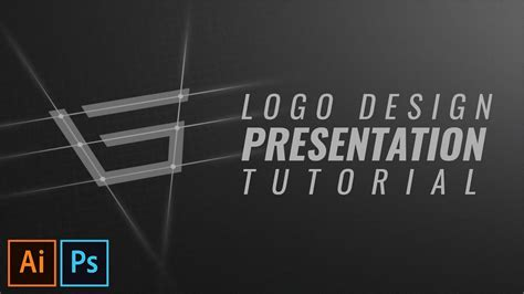logo design on photoshop cc logo design presentation tutorial in photoshop cc 2017