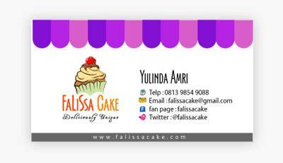 desain kartu nama toko kartu nama falissa cake template manis com