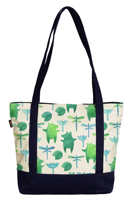 pattern for a canvas tote bag women s circus animals pattern printed canvas tote bag