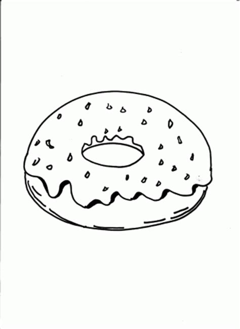 donut coloring pages for free