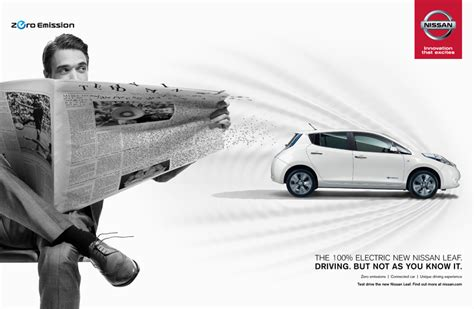 nissan leaf ad nissan demonstrates the lasting effect of the leaf in