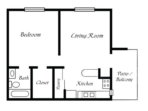 one bedroom one bath house plans the best simple floor
