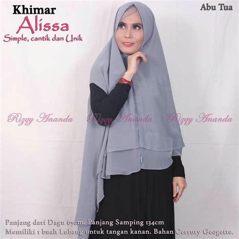 Khimar Fatimah Ori By Rizky Ananda khimar alissa by rizky ananda pusat grosir jilbab modern
