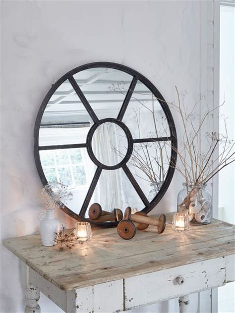 round loftstyle window mirror large round mirror uk