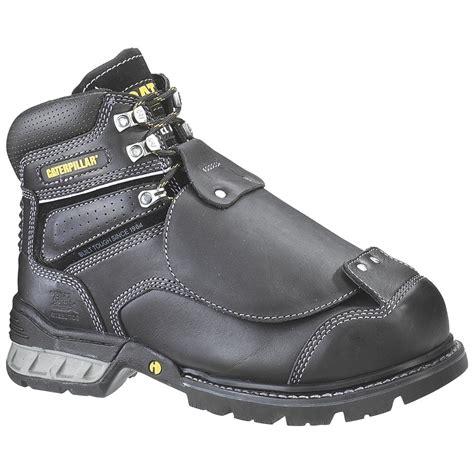 mens black steel toe work boots s cat ergo flexguard steel toe work boots black