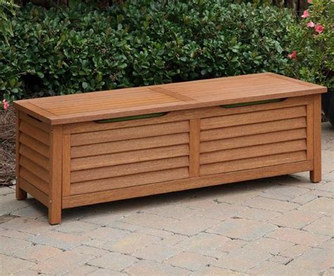 outdoor storage bench