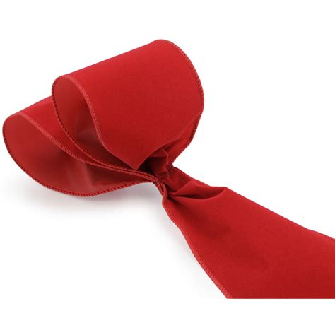 4 quot red velvet wired ribbon 10 yards rl144824