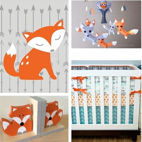 Woodland Nursery Decor Woodland Nursery Decor Fox Nursery Decor Arrow Nursery Decor Orange And Gray Nursery Boy