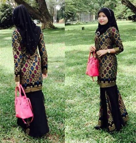 Baju Muslim Kombinasi Kain Songket referensi model baju muslim songket mulai dari style hingga style seragam hajatan