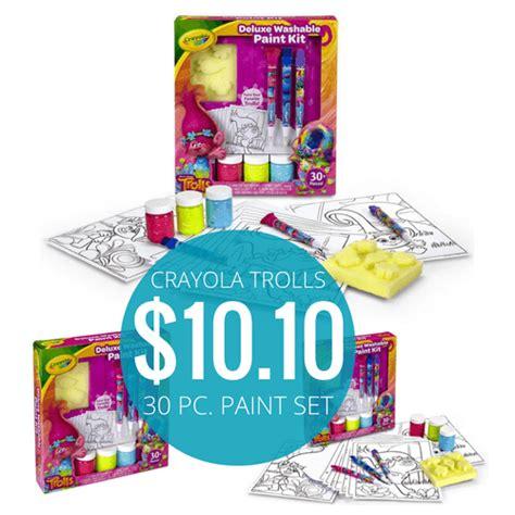 Crayola Deluxe Washable Paint Kit crayola trolls deluxe washable paint kit just 10 10