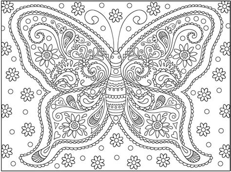 unique coloring pages for adults butterfly coloring page vlinders butterfly